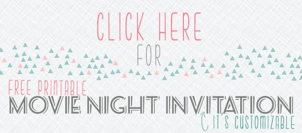 A close up of customizable movie night invitations