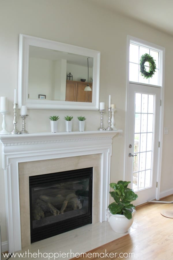 all white mantel