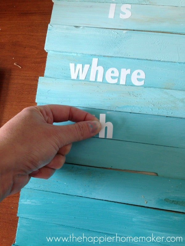 beach ombre sign tutorial