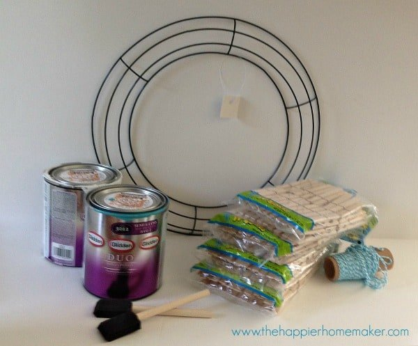 clothespin wreath supplies