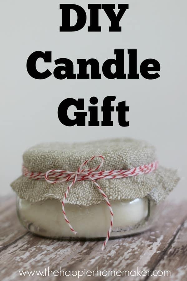 diy candle gift