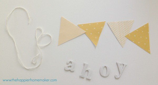 diy wreath banner