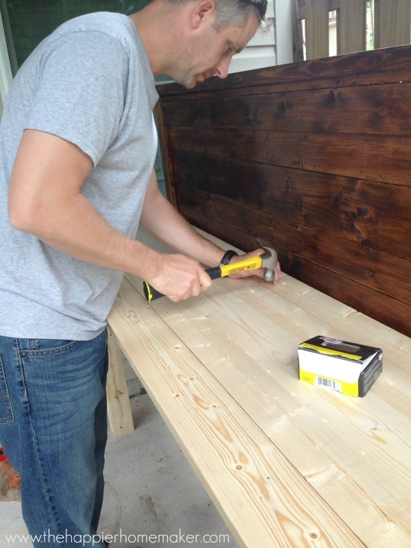 finishing diy pottibng bench tutorial