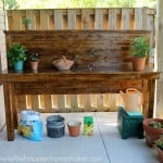 headboard diy potting bench