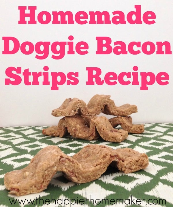 A close up of homemade beggin strips for dogs