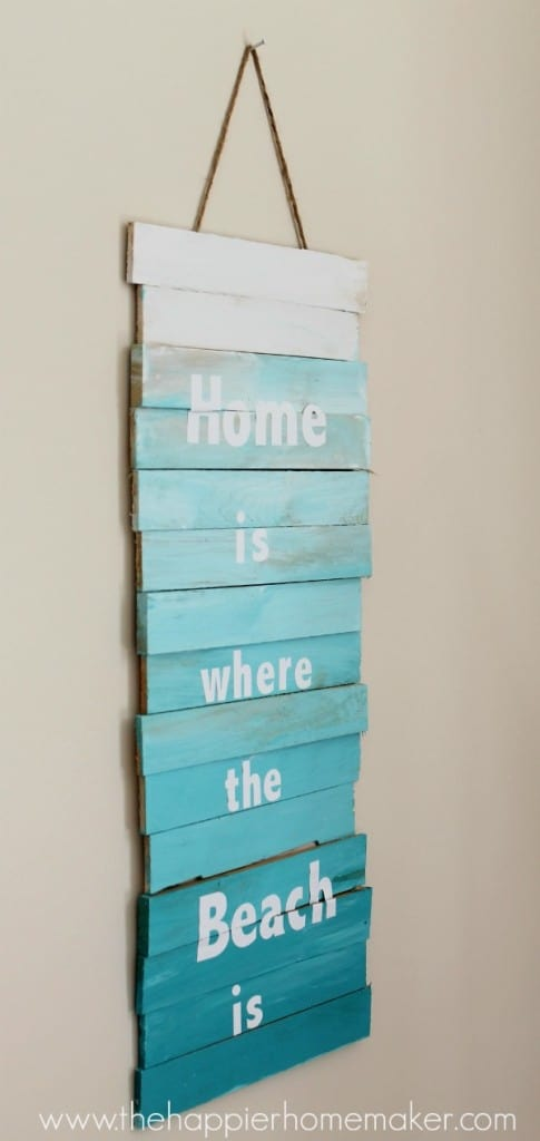 ombre beach sign diy