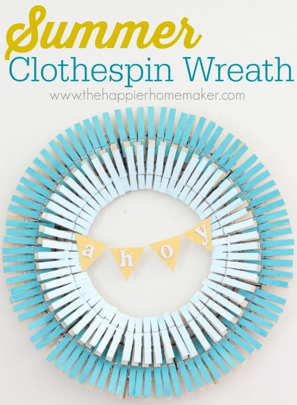 summer clothespin wreath
