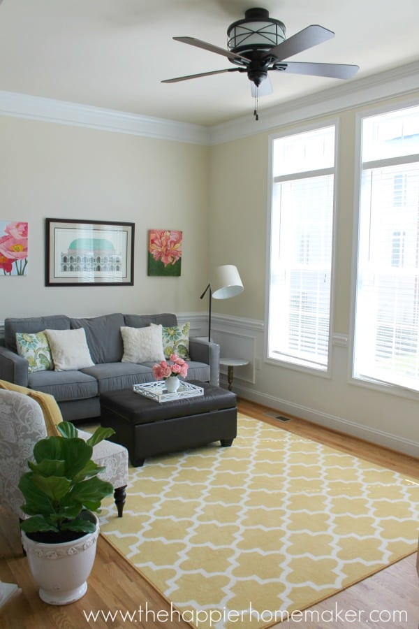 summer home tour living room
