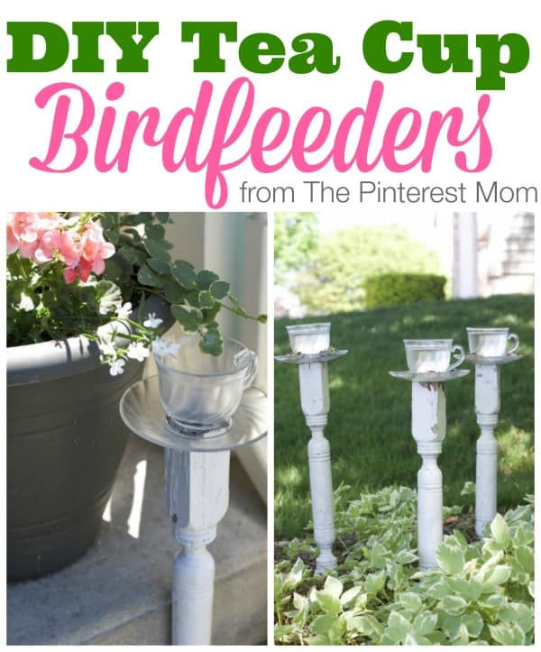 DIY Teacup Birdfeeders:  A Pinterest Idea For The Garden