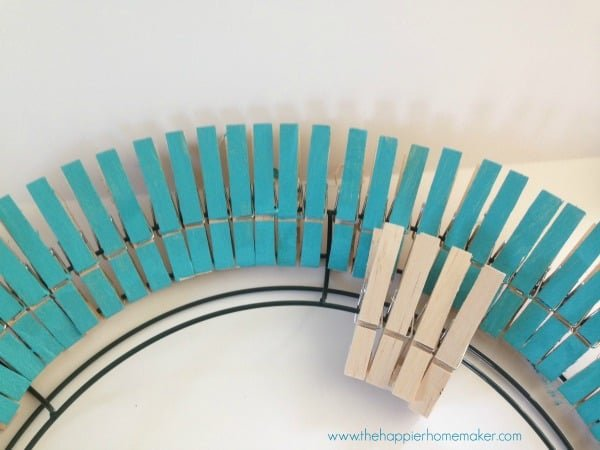 tutorial clothespin wreath