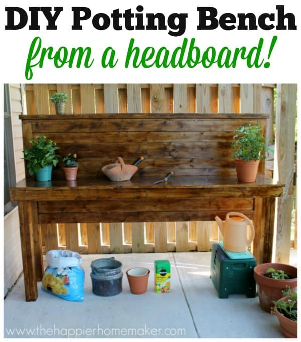 upcycle potting bench