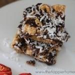 dark chocolate smores bars coconut recipe
