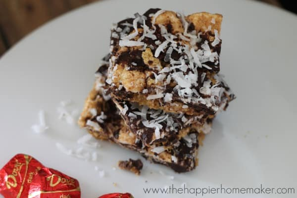 dark chocolate smores bars coconut recipe