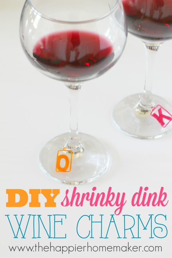 diy shrinky dink wine charms