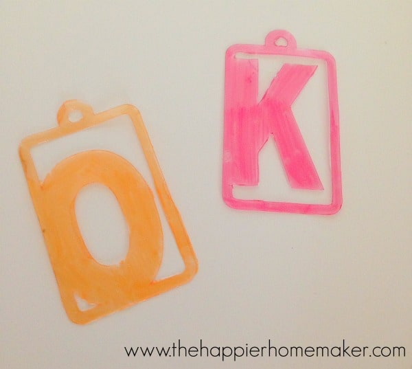 shrinky dink wine charm tutorial
