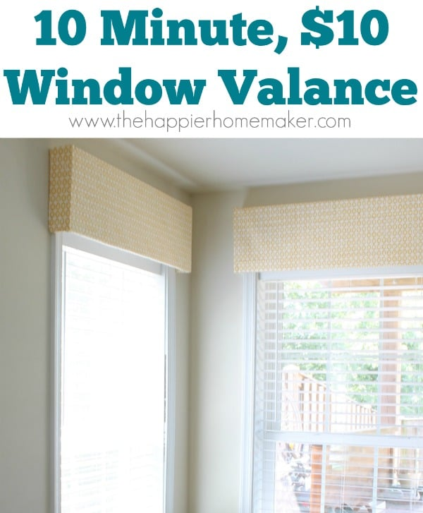 $10 10 minute diy window valance