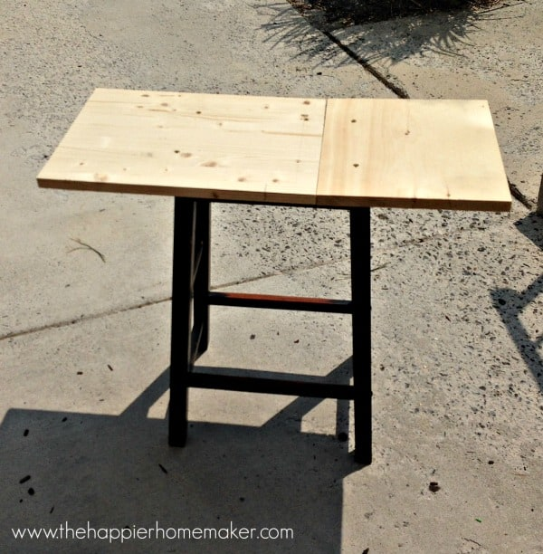 diy table from a barstool