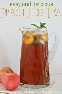 Delicious Peach Iced tea is one of my favorite summertime drinks!