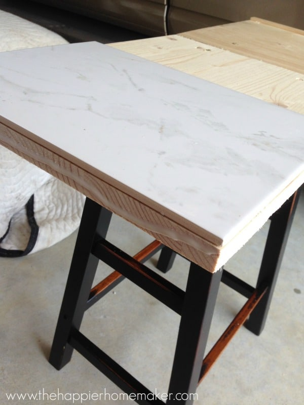how to make a marble top table