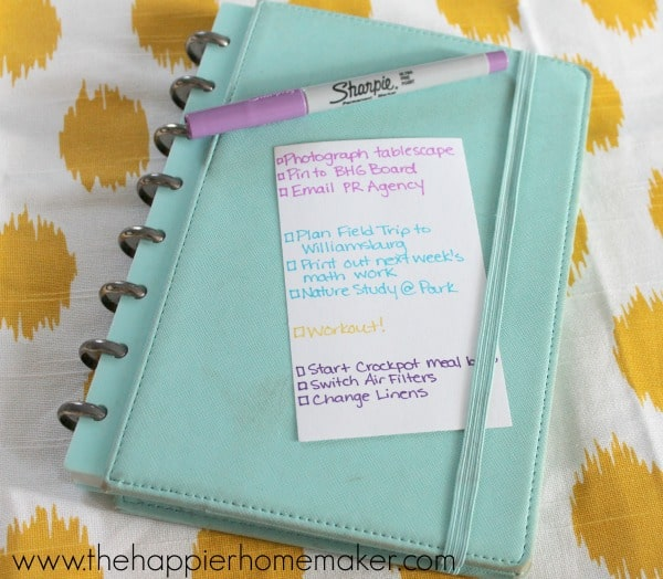 to do list and planner sharpie