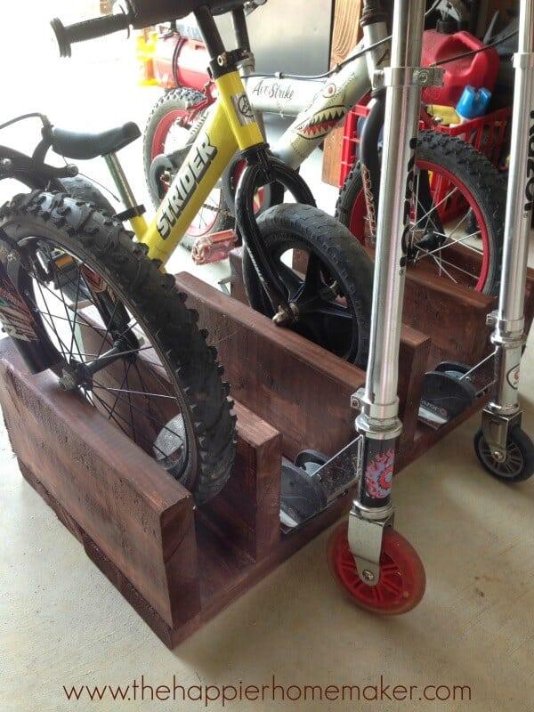 wood diy bike rack