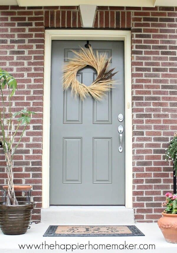 front door wheat wreath