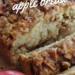 close up apple bread