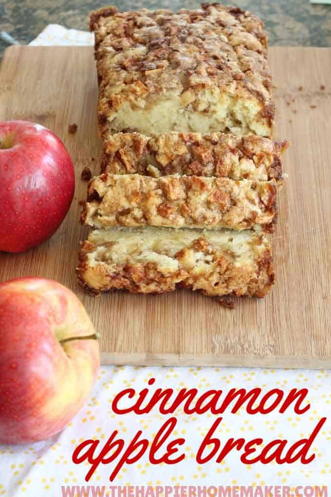 homemade cinnamon apple bread recipe