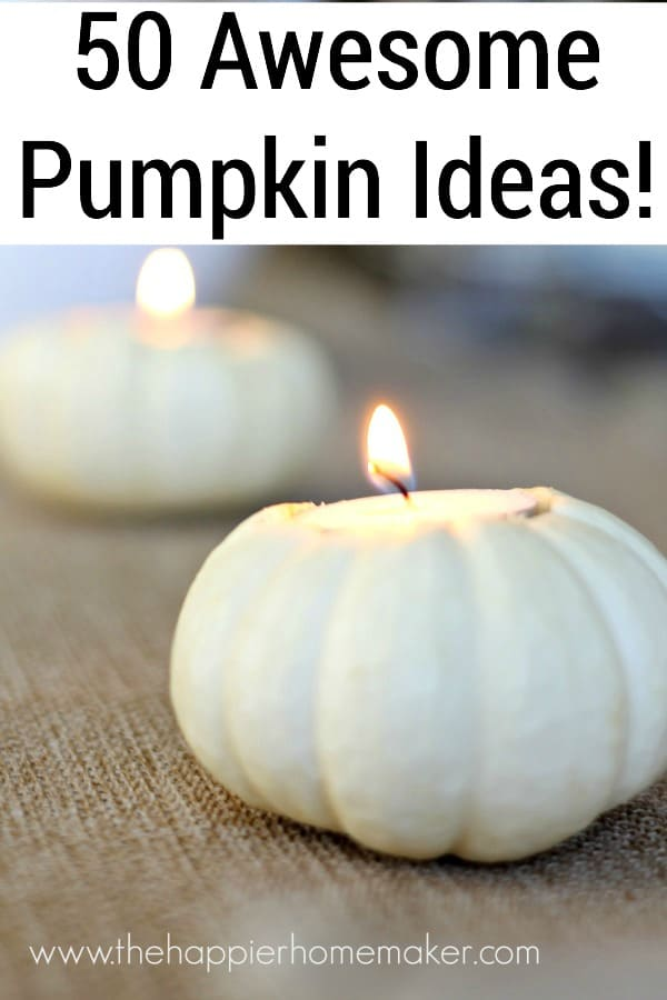 how to make a pumpkin candle holder