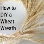 close up of incomplete wheat wreath