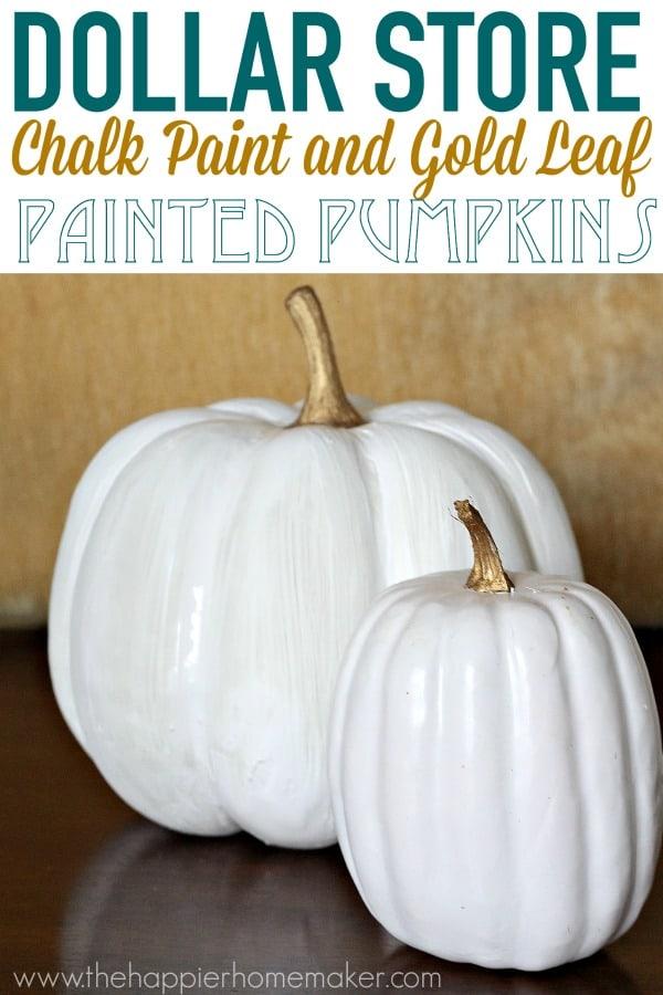 painted chalk gold pumpkins