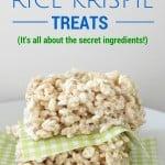 rice krispie treats on parchment paper