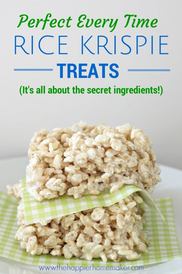 perfect rice krispie treats