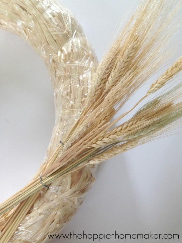 wheat wreath DIY tutorial