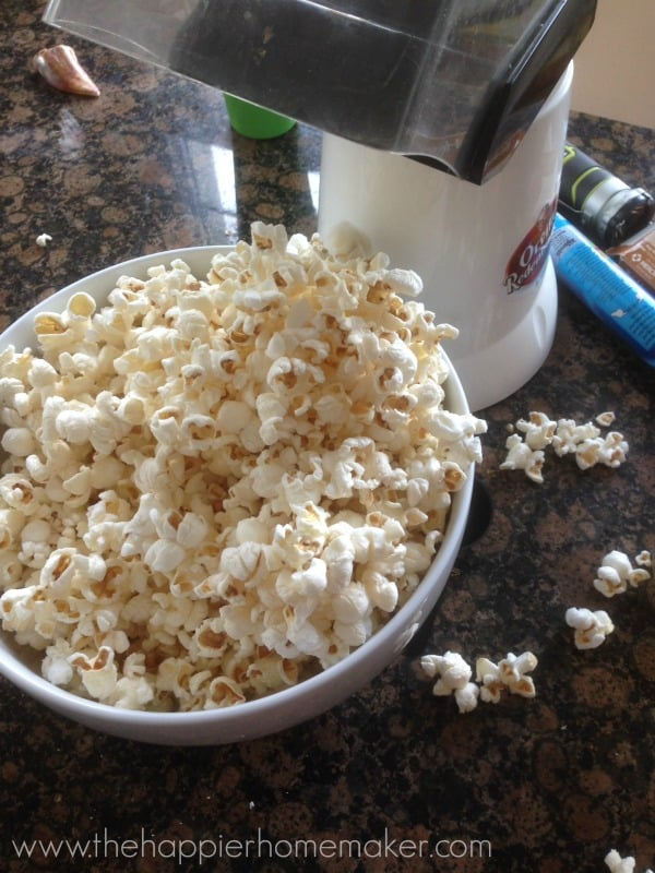 air pop popcorn caramel