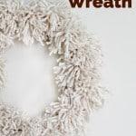ivory pom pom wreath