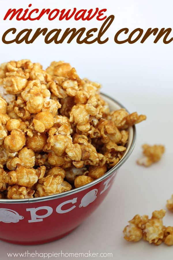 I love this easy microwave caramel corn recipe-it's fun to make and great to give as a homemade DIY gift too!