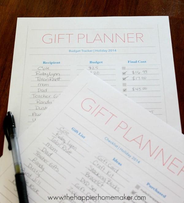 Christmas Gift Planner: Christmas Planner Printable