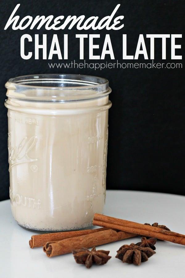 homemade chai tea latte