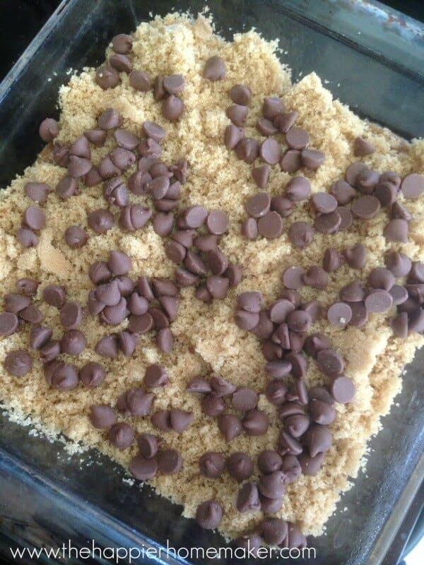 layer top chocolate pudding cake