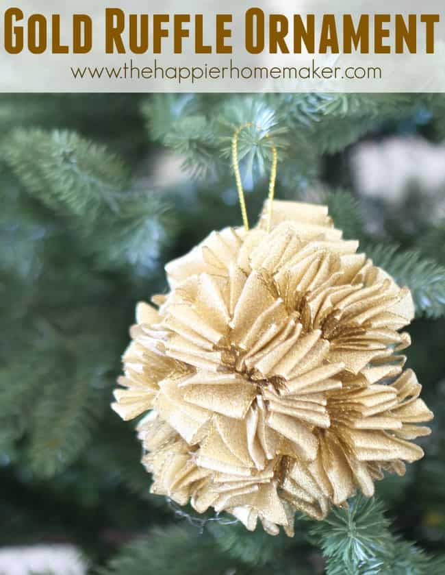 Gold Ruffle Ornament