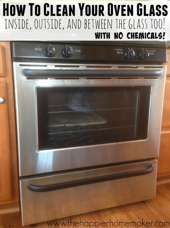 clean oven glass naturally