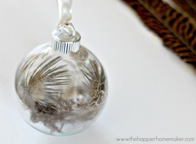 Wispy Feather Ornament