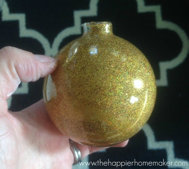 glitter ornament tutorial