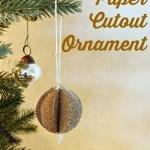 glitter paper ornament