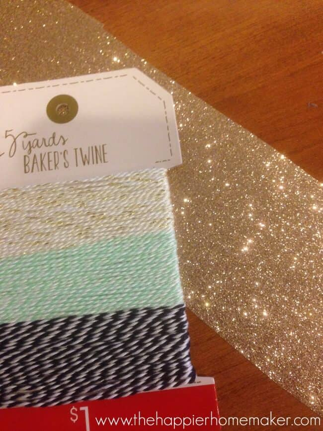 glitter paper ornament supplies