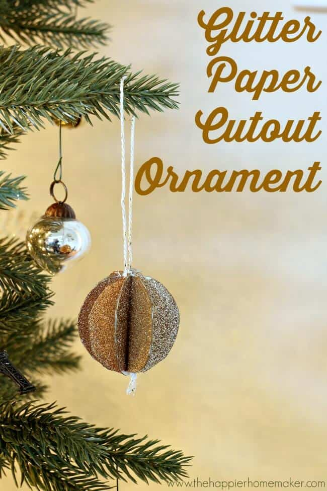 Glitter Paper Ornaments