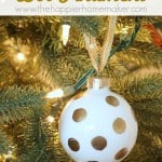 gold leaf polka dot ornament diy