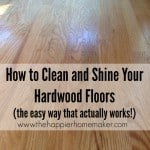 how to clean shine hardwood floors