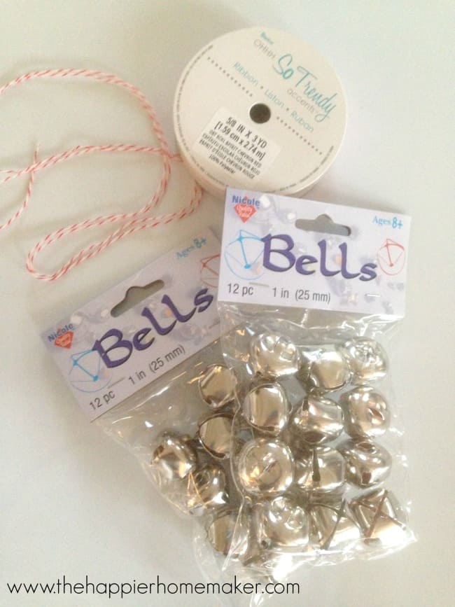 jingle bell ornament supplies